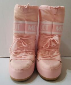 The Original Moon Boots Pink Tecnica US Youth (8'' Insole) Snow Shoe