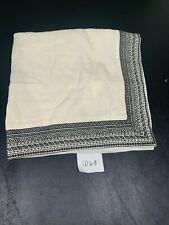 Restoration Hardware Milou Embroidered Linen Euro Sham IVORY / BLACK 1063
