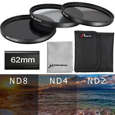 Neutral Density Filter ND2 ND4 ND8 62mm for Nikon D5300 D3300 D3200 D90 D4 LF287