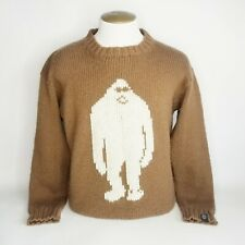Airblaster Sassy Sasquatch Sweater Pullover Brown Wool Blend Large Argentina