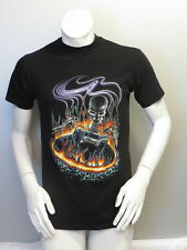 Vintage Graphic T-shirt - Heay Metal Skeleton and Guitar by Holoubek - Men's M