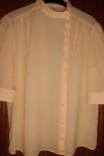 Bluse, dunkles Gelb, asymmetrisch geschnitten, 42, Pol./Viscose, 1/2 Arm