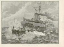 1890-antica stampa corazzata della Marina della classe ADMIRAL Flora (091)