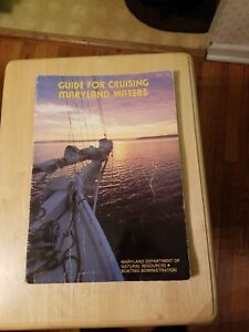 1986 Guide For Cruising Maryland Waters Natural Resources Boating Maps Book Rare