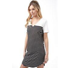 Vila Womens Tinny Blocked Stripe Dress Black Size UK M DH078 DD 06