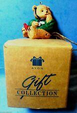 Avon Tiny Teddy Bear Doctor/Nurse Christmas Tree  Ornament 1997