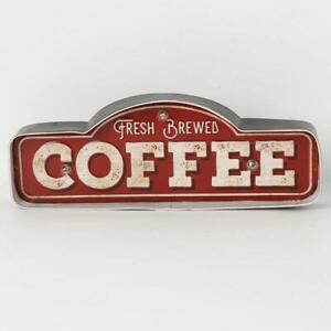 Retro Hang Sign Led Light Fresh Coffee Shop Bakery Art Home Decor Cave Cafe Stor