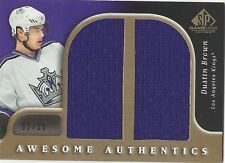 Dustin Brown 2005-06 SP Game Used Awesome Authentics Gold #DADU 02/25