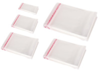 Self Sealable Peel & Seal OPP Clear Plastic Cellophane Cello Bags Various Sizes