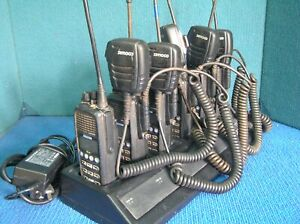 LOT OF 6  Simoco SRP9180 UW Band 80 Channel UHF CB Portable Radios with charger