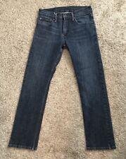"LEVIS 514 Mens Boys Size W28 Denim Blue Jeans 29.5"" Inseam Skinny Slim Dark"