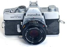 MINOLTA srT101 CLC 35mm Film SLR Vintage Camera MD ROKKOR 45mm f/2 Lens Japan