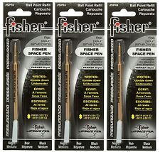 THREE Fisher SPR Series Black Ink / Medium Point Refills #SPR4