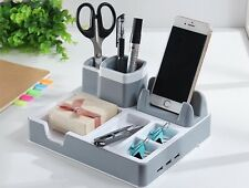 USB Charging Pen Holder Desk Organizer Pens Stand Multi-Function New Office
