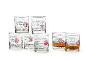 Game of Thrones Etched Rocks Glass and Slate Coaster Set of 4