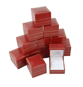 Jewellers Wholesale Red Leatherette Ring Boxes Jewellery Display Gift Box
