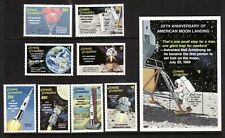 Grenada Grenadines 1989 Apollo 11, Scotts #1067-74 plus 1076 sheet, MNH VF