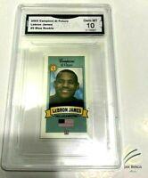 2003 LEBRON JAMES Rookie Card GRADED 10 Campioni de Futuro Los Angeles Lakers
