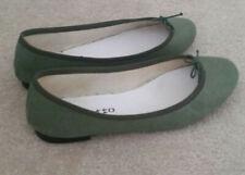 Repetto Paris Olive Green Suede Ballet Flats size 38 EUC Goatskin Cendrillon
