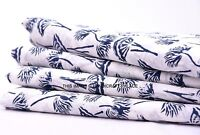 "45"" White Cotton Cambric Hand Block Print Crafting Sewing Fabric By 2.5 Yard"