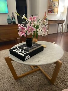 Marble coffee table - mid century style!