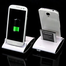 Dual Sync Battery Charger Cradle Dock Station Stand For Samsung Galaxy S3 S4 New
