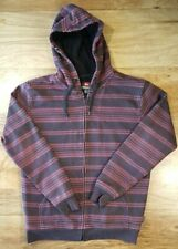 Quicksilver Men's Unisex Full Zip Hoodie Striped Sweater Size Small