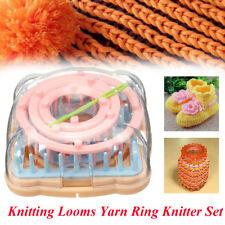 Flower Knitting Loom Wool Yarn Needle Crochet Craft Daisy Pattern Maker Knitter