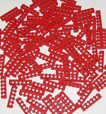 LEGO LOT OF 100 RED 1 X 6 TECHNIC BRICKS BLOCKS WITH HOLES