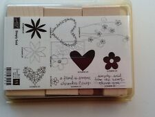 "Stampin Up Retired """"  Simply Said """"   Wood Mount Stamp Set"