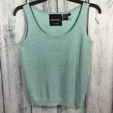 Michael Simon Spun Silk Blend Womens Shirt Size Small Sleeveless Blue