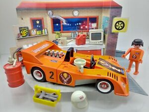 Playmobil 3147 CAN AM Racing Rennwagen V8 orange Klicky Rennfahrer custom alt !!