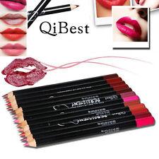 12 Colori Cosmetico Professionale Matita per le labbra IMPERMEABILE MORBIDE