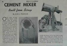 Small Cement Mortar Mixer Build from scrap How-To build Plans