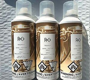 R+Co Trophy Brilliance + Texture Hair Spray ~ Lot of 3, 198ml/6oz each