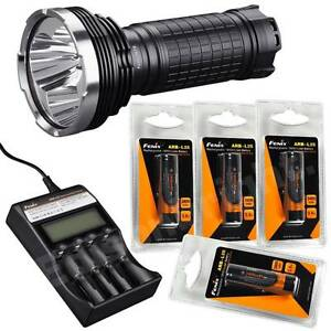 New Fenix TK75 2900 Lumen Cree LED Flashlight ARE-C2 Charger/ 4X ARB-L2S battery