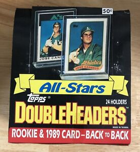 1989 Topps Double Headers All Stars Unopened Box 24ct Rk & 89 Card Back to Back!