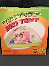 """PACIFIC PLAY TENTS KIDS """"COTTAGE"""" BED TENT PLAYHOUSE - Full Size -  NEW/NRFB"""