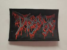 DISGORGE LOGO BRUTAL/DEATH METAL EMBROIDERED PATCH
