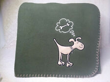 New Pet blanket with dog applique green soft bedding 4 ft x 4 ft