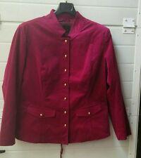 Giacca in velluto liscio rosso magenta taglia 46  bpc Selection bottoni oro