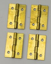 """4x Brass hinges clock case parts repairs 1"""" 25mm clockmakers hinge spares NEW"""