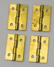 """4x Cerniere in Ottone parti della cassa per Pendola riparazioni 1"""" 25mm Cerniera Ricambi New World"""