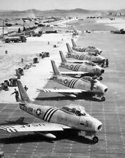 Korean War  Photo US Air Force F-86 Sabre Fighters in Korea  / 5392