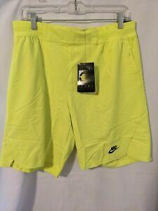 NWT Nike Challenge Court Mens Tennis Shorts Agassi Neon Volt Sz M DB4617 363