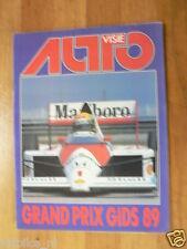 AUTOVISIE 1989 SPECIAL FORMULA ONE,F1,SENNA MCLAREN,BRUNDLE BRABHAM,CAPELLI MARC