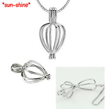 SAVE BULK: 3PCS 925 Sterling Sliver HEART Locket Pendant for Bead/Gem/Pearl