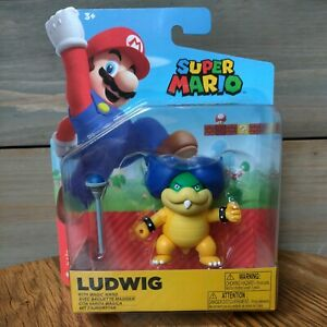 "LUDWIG with MAGIC WAND Super Mario 4"" World of Nintendo NEW Koopa Kids"