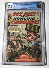 CGC 3.0 SGT FURY And HIS HOWLING COMMANDOS #1 1ST APP NICK FURY 1963 OW/W Pages