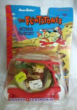 The Flintstones Action Playset BARNEY FLINTMOBILE 1994 - RARE!